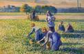 La Cueillette des pois de Pissarro oppose deux familles de chaque côté de l'Atlantique