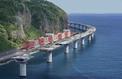 À La Réunion, le viaduc le plus long de France sort de l'eau