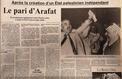 État palestinien : Yasser Arafat proclamait sa création il y a 30 ans