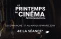 Le Printemps du cinéma fête sa 20e édition du 17au 19 mars