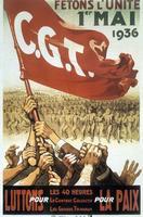 Affiche de la CGT, le 1er mai 1936.