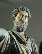 Bronze de Marc Aurèle daté du du IIe siècle.