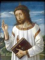 Giovanni Bellini, le Christ bénissant (1465 - 1470), Musée du Louvre, Paris.