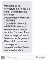 Le 11 mars, plusieurs SMS propageant des rumeurs d'attentats on été envoyés à Paris.