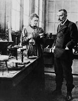 Marie et Pierre Curie.