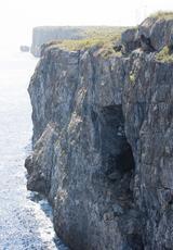 L'entrée de la grotte.