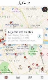 La carte interactive de l'application Emile.