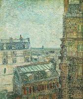 <i>Vue de Paris </i>de la chambre de Vincent, rue Lepic (1887)