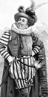 Le comédien Coquelin dans le rôle de Cyrano de Bergerac.