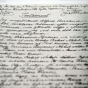 Le testament d'Alfred Nobel exposé pour la première fois au public