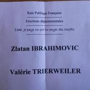 Le «candidat» Ibrahimovic récolte des voix aux élections départementales