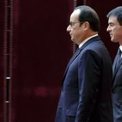 Les cotes de confiance de Hollande et Valls rechutent