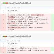 Un développeur informatique réinvente la lecture du Code civil