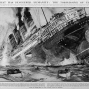 Le 7 mai 1915, le paquebot Lusitania est torpillé par les Allemands