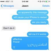 Recevoir ce texto fera planter votre iPhone à coup sûr
