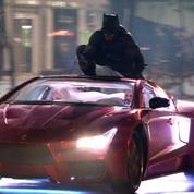 Suicide Squad :Batman saute sur le toit de la Joker-mobile