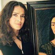 Salma Hayek peint aussi à la manière de Frida Kahlo