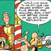 Astérix au centre de La Guerre des Gaules dans Le Papyrus de César