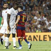 Quand Messi veut mettre un coup de tête à son adversaire