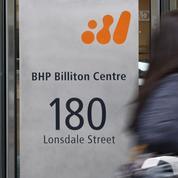 BHP Billiton souffre des faibles cours des matières premières