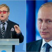 L'appel d'Elton John à Vladimir Poutine reste sans réponse