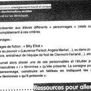 Un document du ministère de l'Éducation renforce les stéréotypes garçons-filles