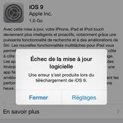 Le téléchargement d'iOS9 perturbé