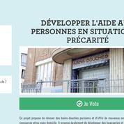 Un SDF appelle les Parisiens à voter pour son projet original