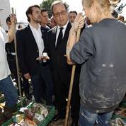 François Hollande au chevet des sinistrés