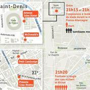 Attaques de Paris : où et quand les terroristes ont frappé