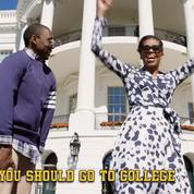 Michelle Obama rappe à la Maison-Blanche