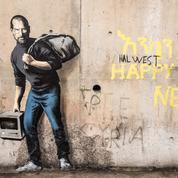 Le street-artiste Banksy rend hommage aux migrants à Calais