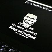 Les Anonymous attaquent la police thaïlandaise