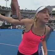 Echanges houleux pendant un match de tennis féminin