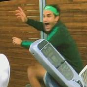 Roger Federer s'enflamme en regardant un match féminin