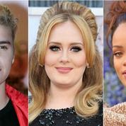 Adele et Rihanna rejoignent Justin Bieber aux Grammys