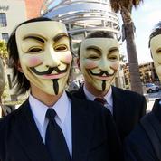 Des Anonymous s'attaquent au site de l'Assemblée nationale et du Sénat