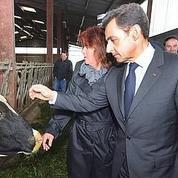 Nicolas Sarkozy à l'écoute des agriculteurs en difficultés à Rodez