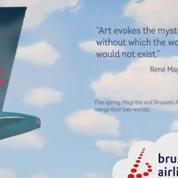 Brussels Airlines reproduit l'univers de René Magritte sur l'un de ses avions