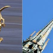 L'archange quitte le Mont-Saint-Michel pour un lifting à la feuille d'or