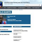 Sélection de Kanté en Bleu, la «boulette» de la fédération française