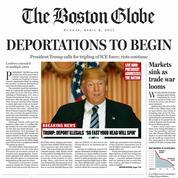 La fausse une choc du Boston Globe avec Trump Président
