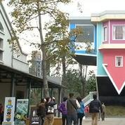 Taïwan: une maison renversée renversante