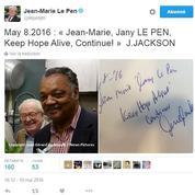 La mystérieuse rencontre de Jean-Marie Le Pen avec le révérend Jesse Jackson