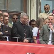Quand Franck Ribéry chante «Les Champs-Elysées»