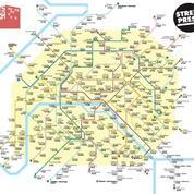 La carte de métro des loyers parisiens