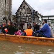 Intempéries : le centre-ville de Nemours évacué