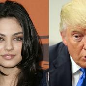 L'actrice ukrainienne Mila Kunis condamne Donald Trump