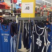 Les maillots OKC floqués Kevin Durant vendus 48 centimes