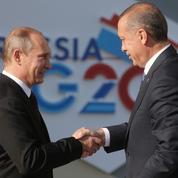 Erdogan à Saint-Pétersbourg: «Poutine pousse son avantage»